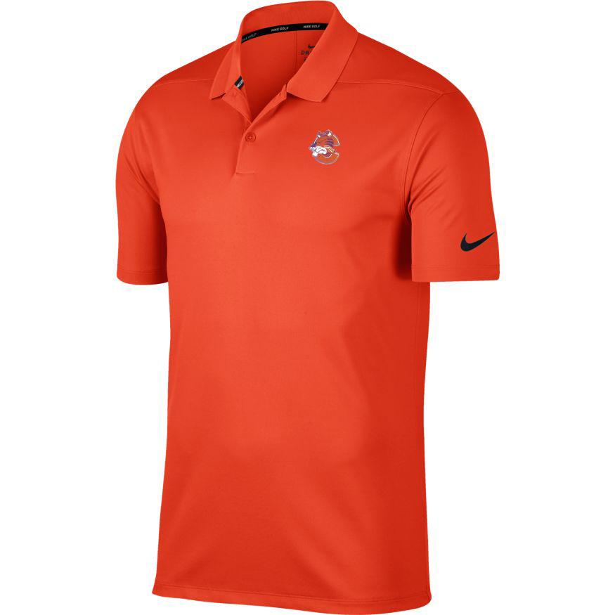 Clemson Nike Golf Vault Logo Dry Victory Solid Polo