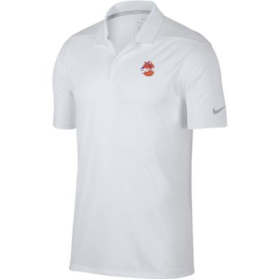 Clemson Nike Golf Vault Logo Dry Victory Solid Polo WHT