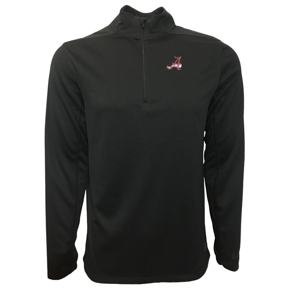 Alabama Nike Golf Retro Script A 1/2 Zip Golf Pullover