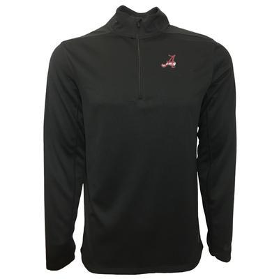 Alabama Nike Golf Retro Script A 1/2 Zip Golf Pullover BLK