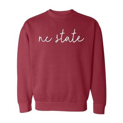 NC State Simple Script Comfort Colors Sweatshirt