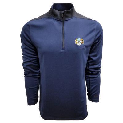 UNC Nike Golf Retro Rameses 1/2 Zip Golf Pullover OBSIDIAN