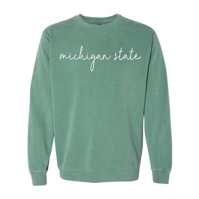 Michigan State Simple Script Comfort Colors Sweatshirt
