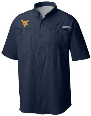 West Virginia Columbia Tamiami Short-Sleeve Shirt