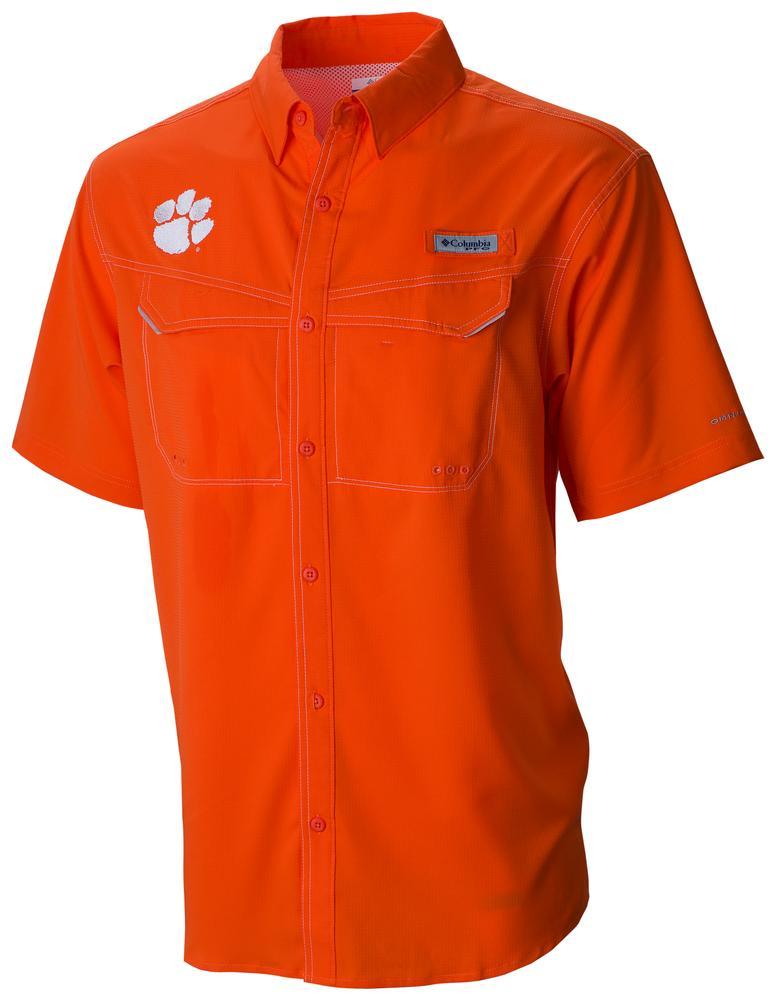 Clemson Columbia Pfg Low Drag Offshore Shirt