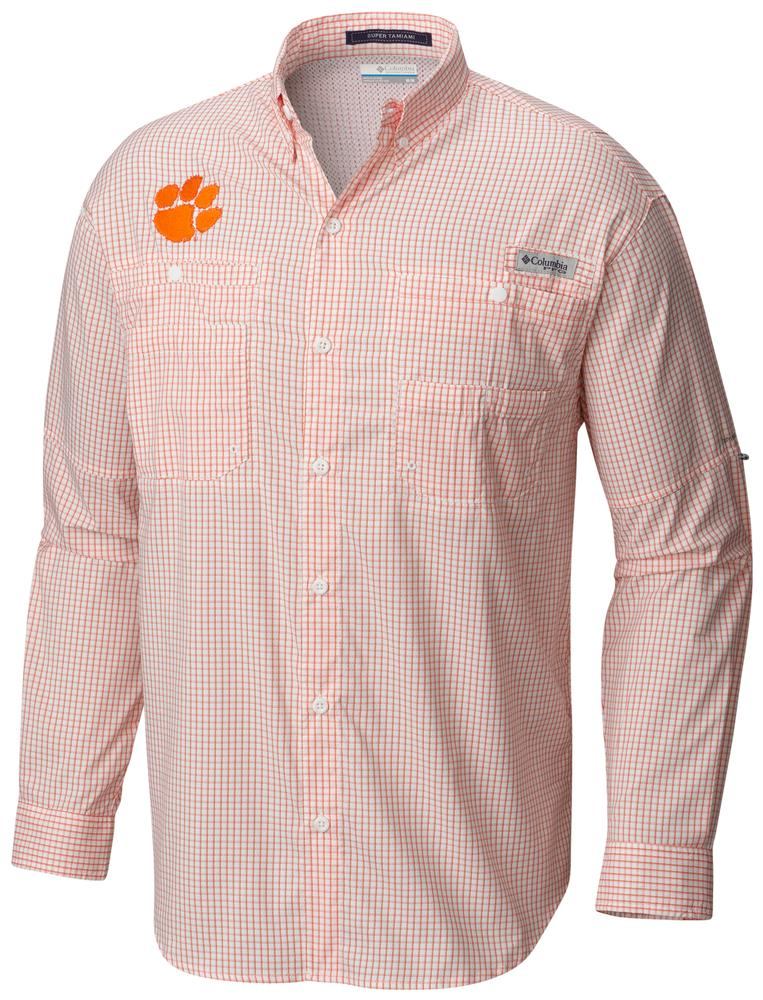 Clemson Columbia Long Sleeve Super Tamiami Woven Shirt