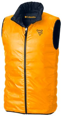 West Virginia Columbia Lake Reversible Full Zip Vest