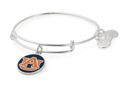 Auburn Alex & Ani Team Logo Charm Bangle