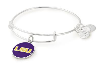 LSU Alex & Ani Team Logo Charm Bangle