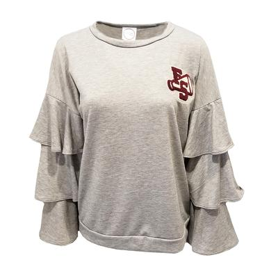Florida State Kickoff Couture Women's Letterman Ruffle Pullover