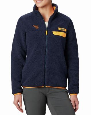 West Virginia Columbia Women's Mountain Side Fleece Jacket