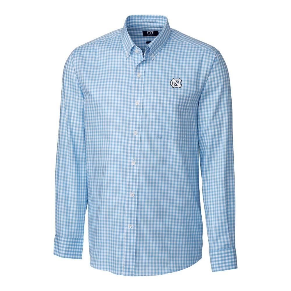Unc Cutter & Buck League Gingham Woven Dress Shirt