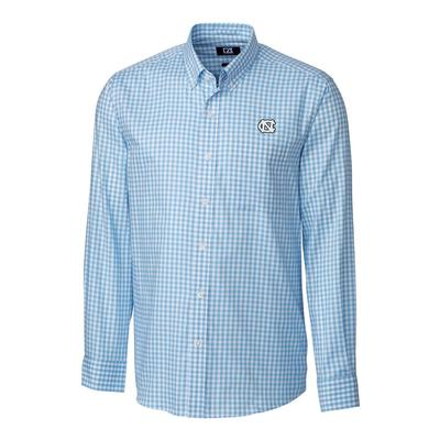 UNC Cutter & Buck League Gingham Woven Dress Shirt