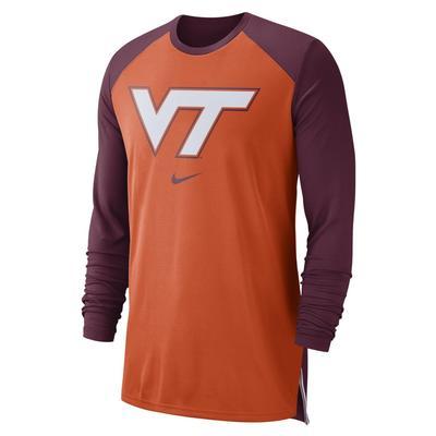 Virginia Tech Nike Breathe Elite Long Sleeve Shooter Tee