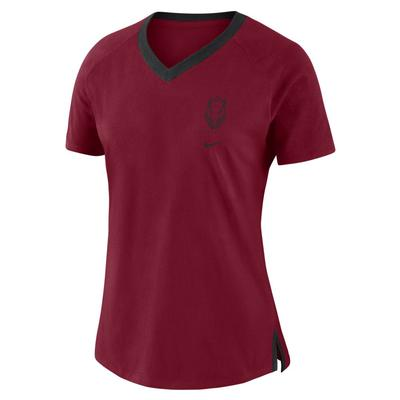 Arkansas Nike Women's Triblend Basketball Fan Top