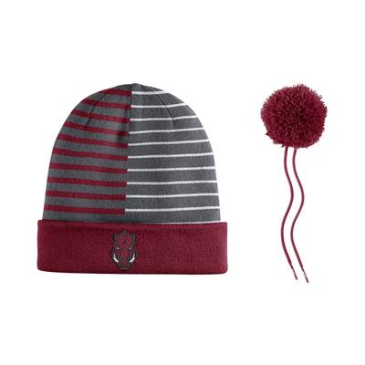 Arkansas Nike Reversible Striped Beanie