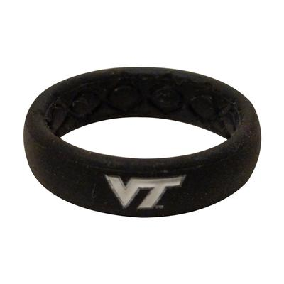 Virginia Tech Groove Ring (Thin)