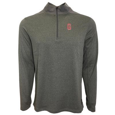 Georgia Nike Golf Vault G 1/2 Zip Golf Pullover GUNSMOKE