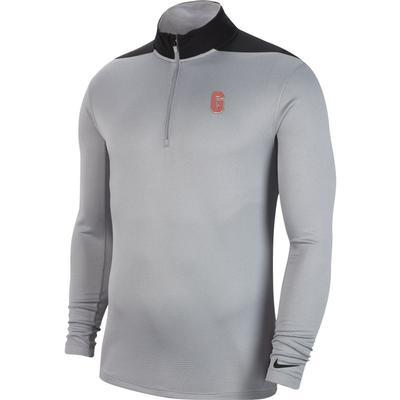 Georgia Nike Golf Vault G 1/2 Zip Golf Pullover WOLF_GREY