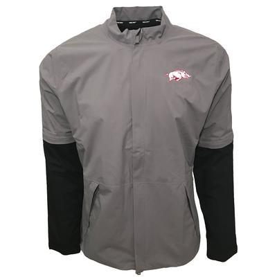 Arkansas Nike Golf HyperShield Convertible Jacket GUNSMOKE