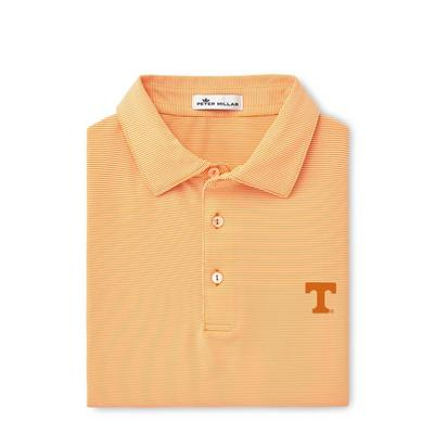Tennessee Men's Peter Millar Jubilee Stripe Jersey Polo
