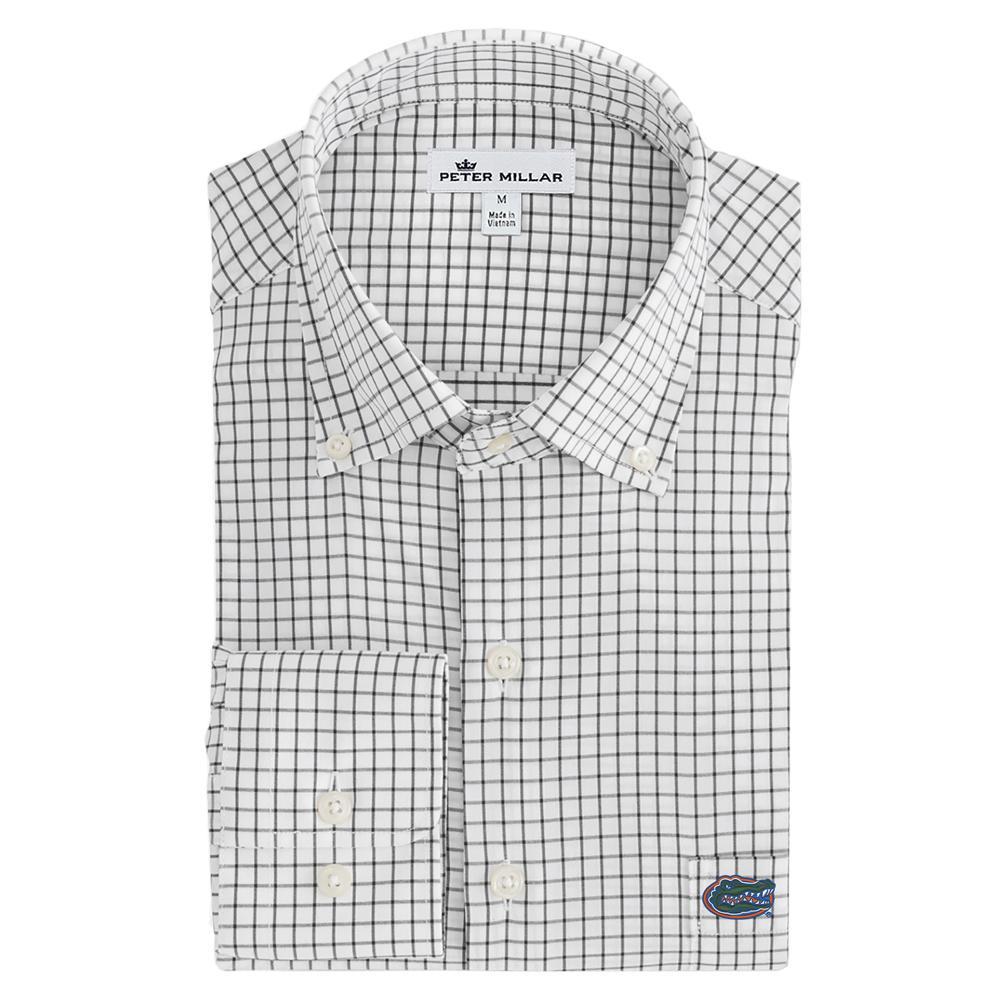 Florida Men's Peter Millar Tech Stretch Tattersall Woven Shirt