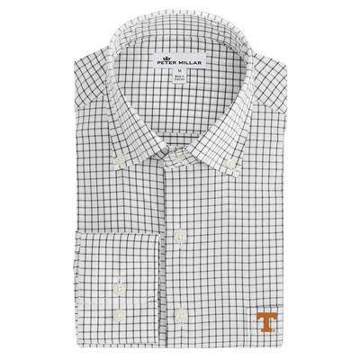 Tennessee Men's Peter Millar Tech Stretch Tattersall Woven Shirt