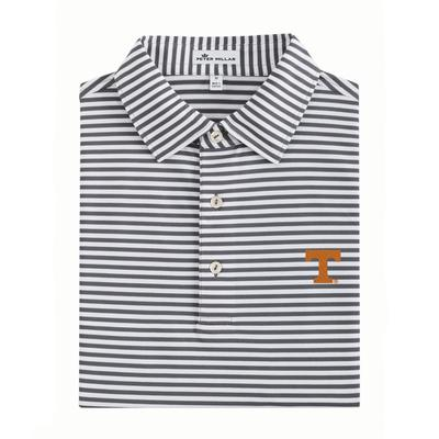 Tennessee Men's Peter Millar Touchdown Stripe Stretch Mesh Polo