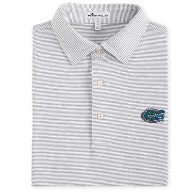 Florida Men's Peter Millar Graduate Stripe Stretch Jersey Polo