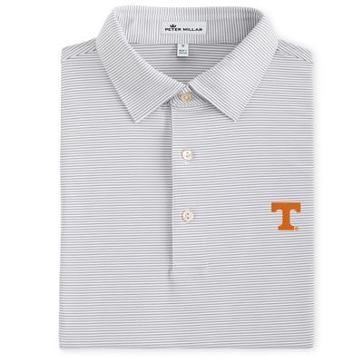 Tennessee Men's Peter Millar Graduate Stripe Stretch Jersey Polo