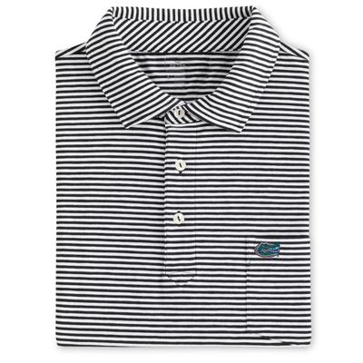 Florida Men's Peter Millar Seaside Stripe Polo w/ Mini Pocket Logo
