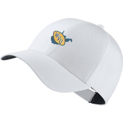 West Virginia Nike Golf Vault Logo Dri-Fit Tech Cap WHITE