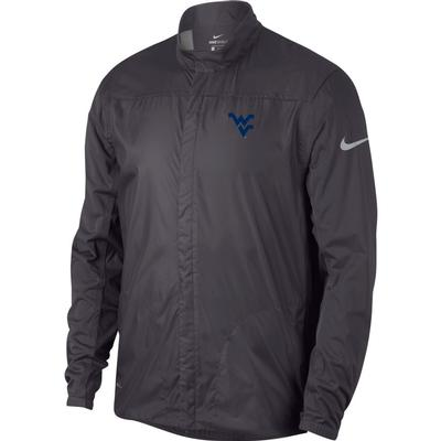 West Virginia Nike Golf Men's Shield Golf Jacket GUNSMOKE