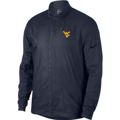 West Virginia Nike Golf Men's Shield Golf Jacket OBSIDIAN