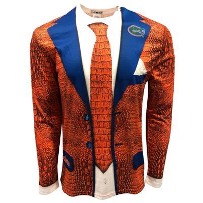 Florida Gator Skin Faux Suit Long Sleeve Tee