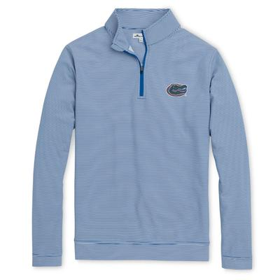 Florida Men's Peter Millar Perth Mini Stripe Stretch Quarter Zip Pullover