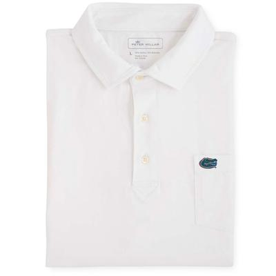 Florida Men's Peter Millar Seaside Solid Polo with Mini Pocket Logo