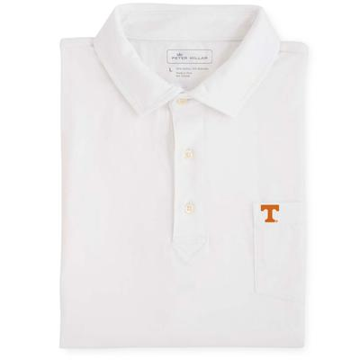 Tennessee Men's Peter Millar Seaside Solid Polo with Mini Logo