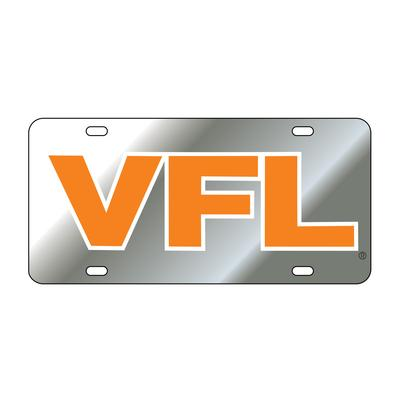 Tennessee License Plate Silver With Orange VFL Logo