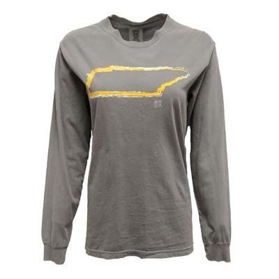 Give Her Six Gold State Outline Long Sleeve Comfort Colors T Shirt