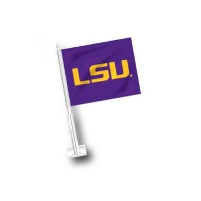 LSU Car Flag