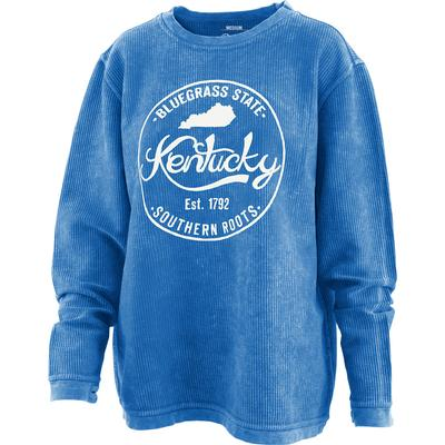 Kentucky Pressbox Women's Surf Stamp Comfy Corded Sweatshirt