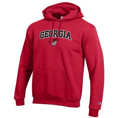 Georgia Champion Arch Logo Applique Hooded Sweatshirt