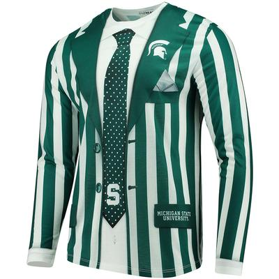 Michigan State Faux Suit Long Sleeve Tee