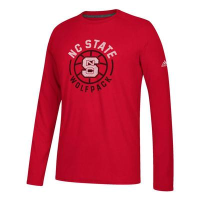 NC State Adidas Center Court Adoration Long Sleeve Ultimate Tee