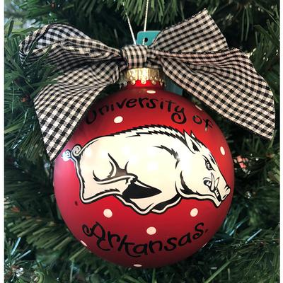 Arkansas Razorbacks Logo Ornament