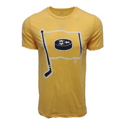 Project 615 Distressed Tristar Hockey Flag T Shirt