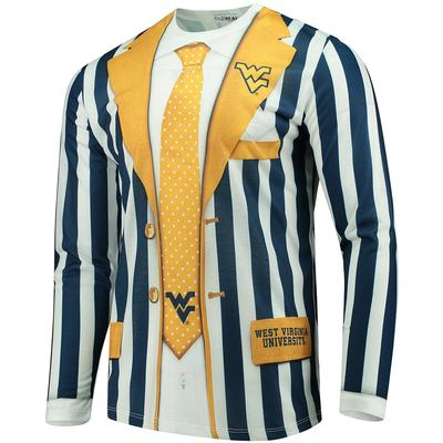 West Virginia Faux Suit Long Sleeve Tee