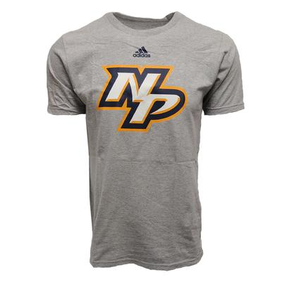 Adidas Men's Nashville Predators Logo T Shirt GREY