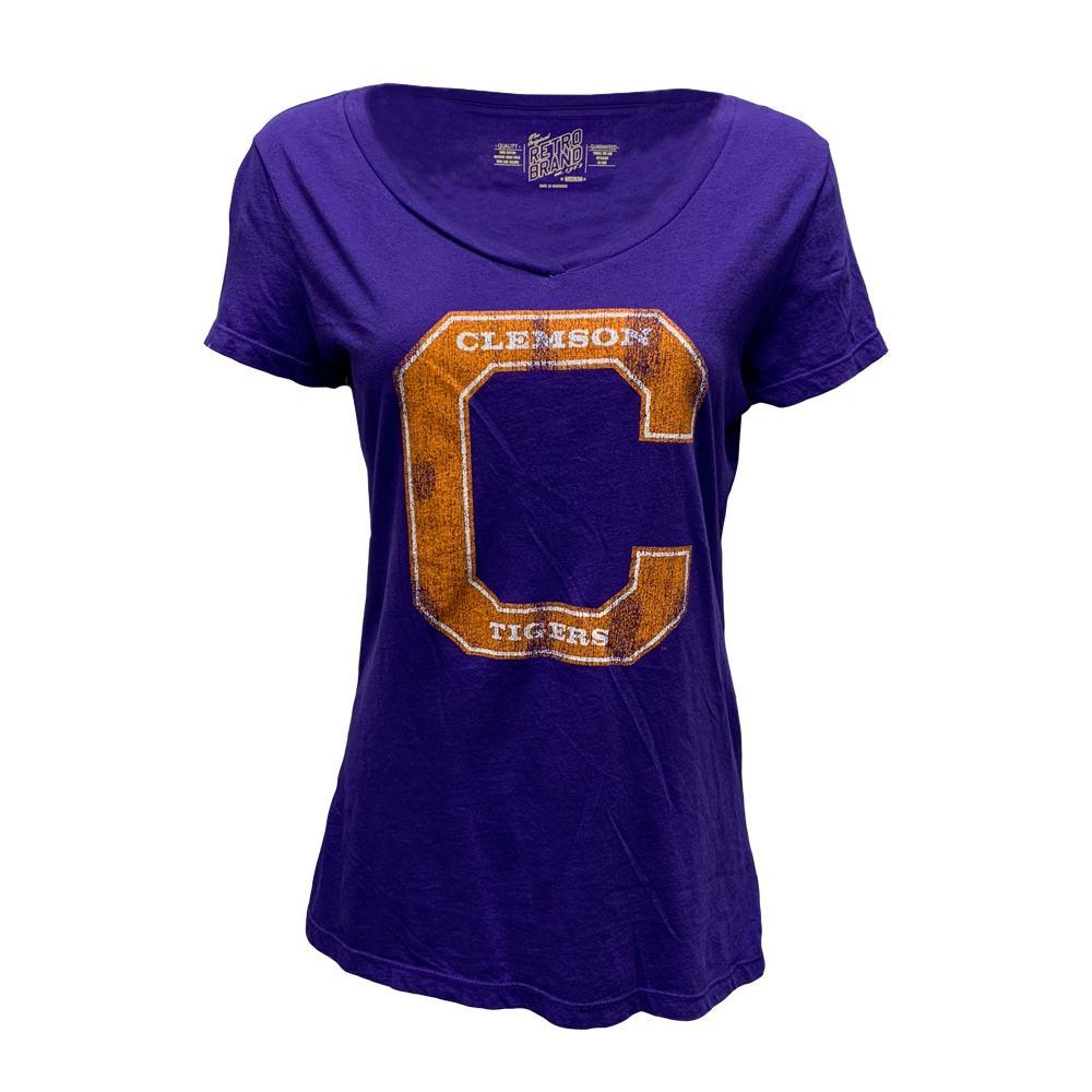 Clemson Retro Brand Women's Leigh Scoop Neck Tee